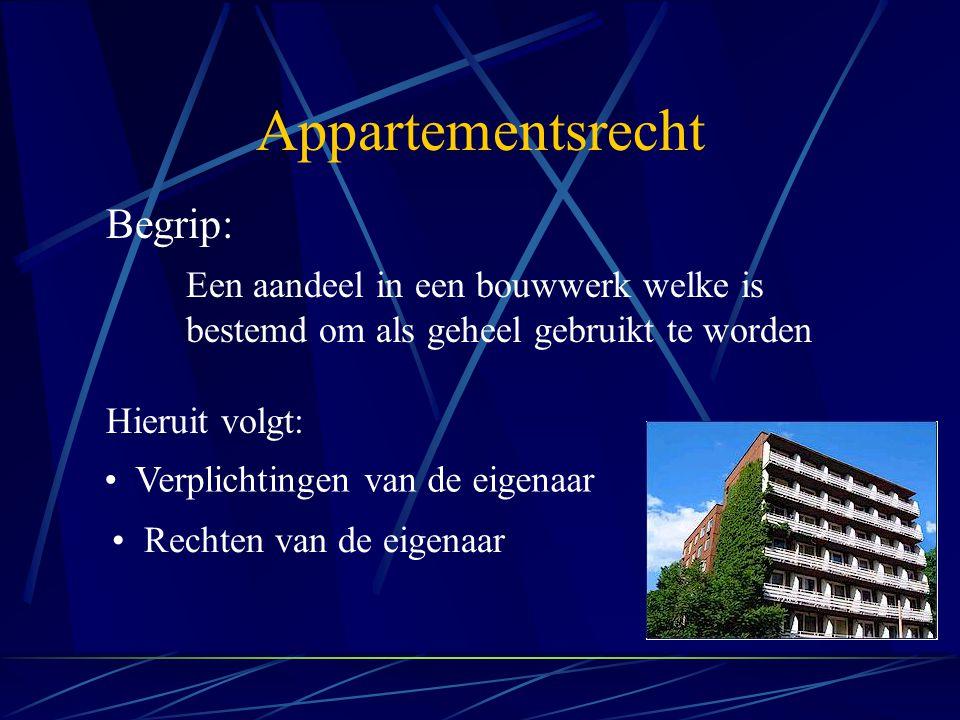 Appartementsrecht Begrip:
