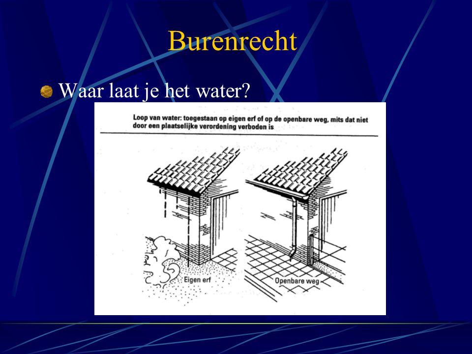 Burenrecht Waar laat je het water