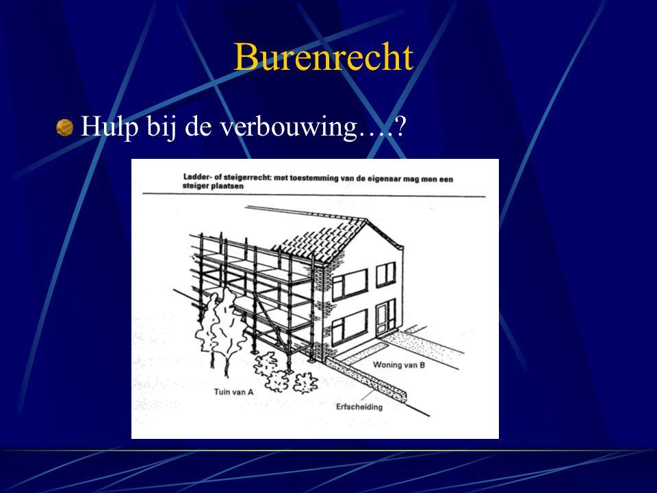 Burenrecht Hulp bij de verbouwing….