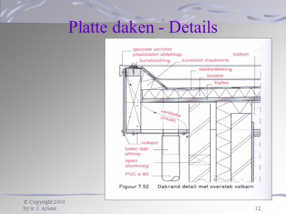 Platte daken - Details © Copyright 2003 by ir. J. Ariens