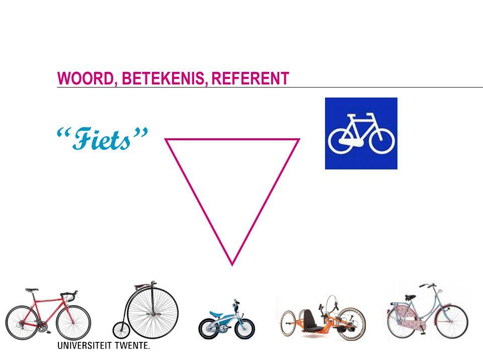 Fiets woord, betekenis, referent