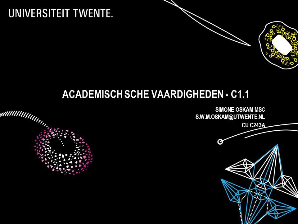ACADEMISCH SCHe vaardigheden - C1.1