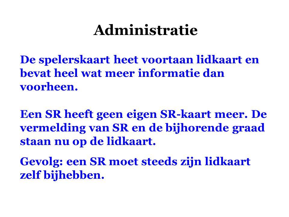 Administratie De spelerskaart heet voortaan lidkaart en bevat heel wat meer informatie dan voorheen.
