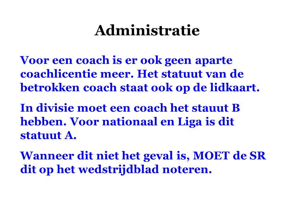 Administratie Voor een coach is er ook geen aparte coachlicentie meer. Het statuut van de betrokken coach staat ook op de lidkaart.