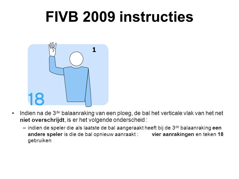 FIVB 2009 instructies VVB SR commissie - reglementen 2009-2012