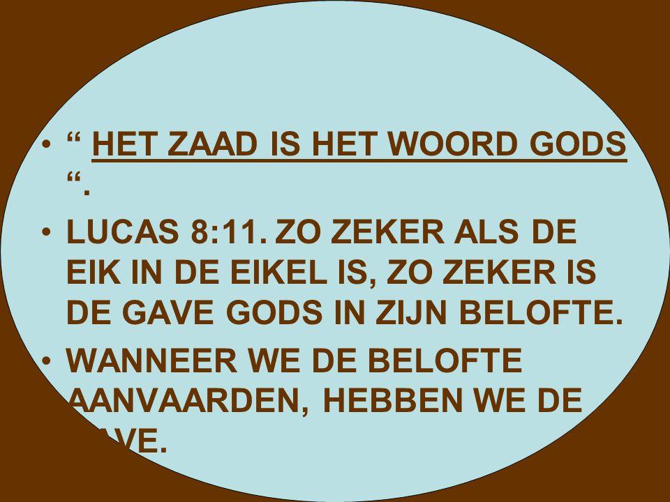 HET ZAAD IS HET WOORD GODS .