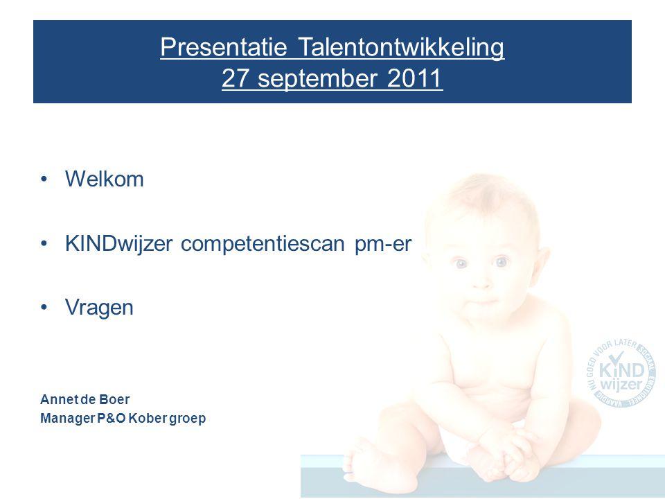 Presentatie Talentontwikkeling 27 september 2011