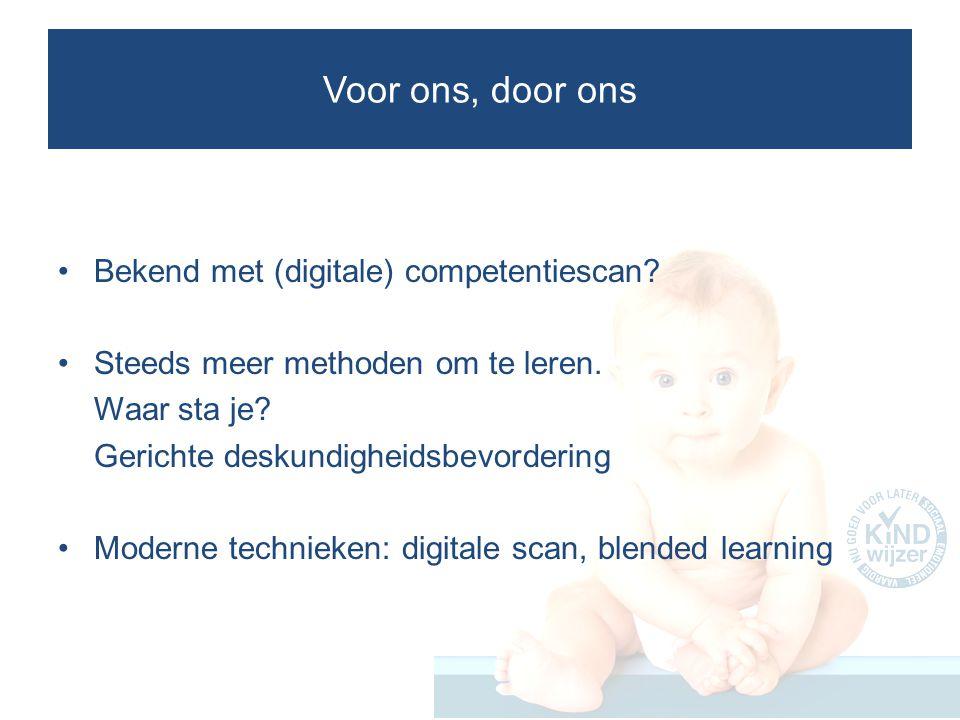 Voor ons, door ons Bekend met (digitale) competentiescan