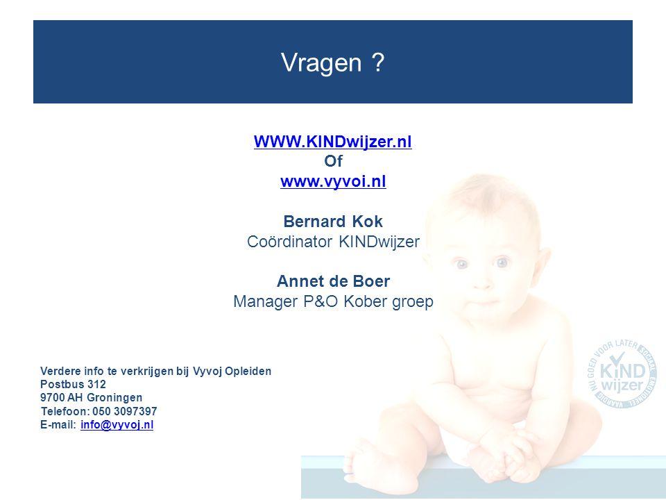 Vragen WWW.KINDwijzer.nl Of www.vyvoi.nl Bernard Kok