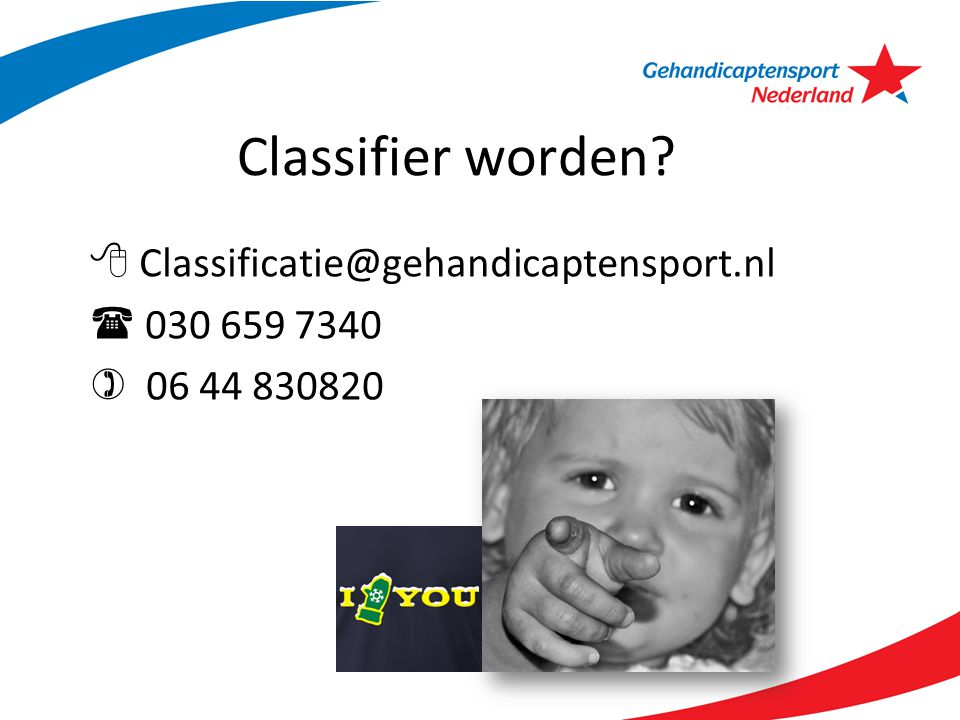 Classifier worden  Classificatie@gehandicaptensport.nl
