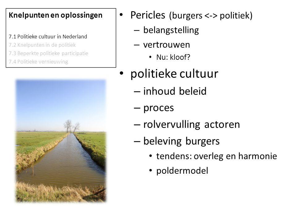 politieke cultuur Pericles (burgers <-> politiek) inhoud beleid