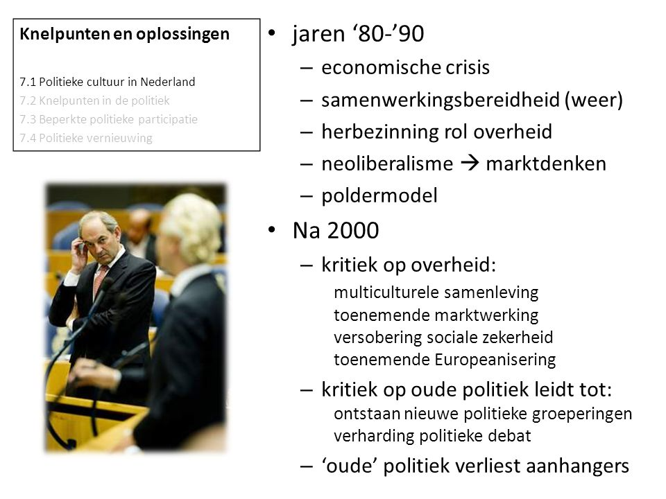 jaren '80-'90 Na 2000 economische crisis