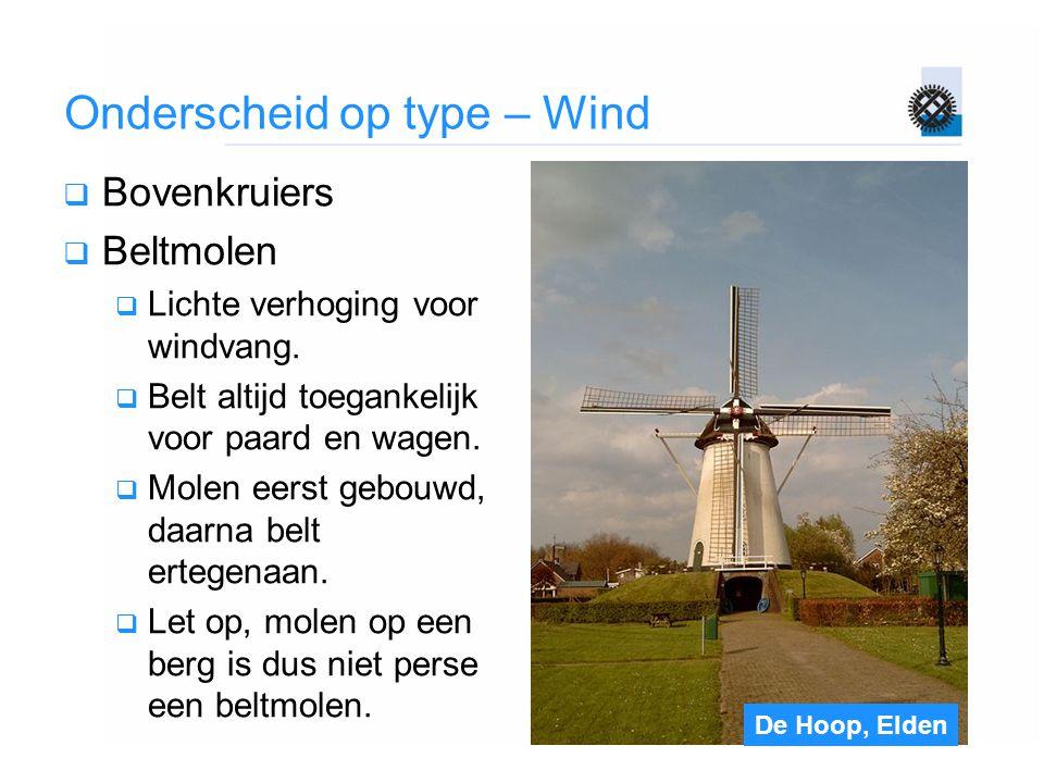 Onderscheid op type – Wind