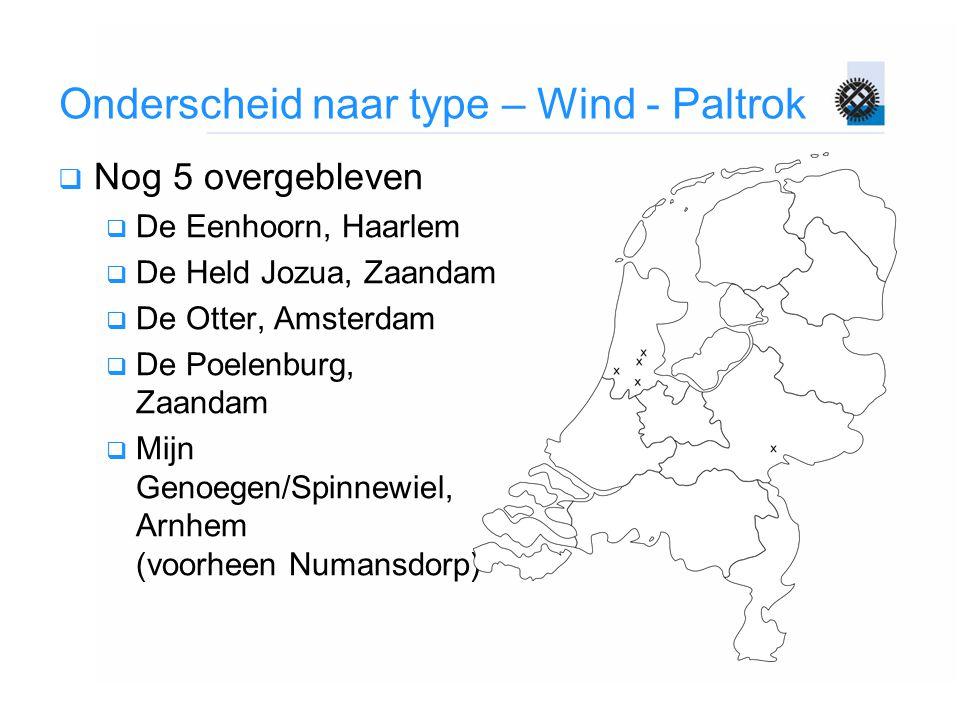Onderscheid naar type – Wind - Paltrok