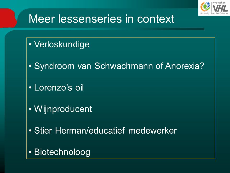 Meer lessenseries in context