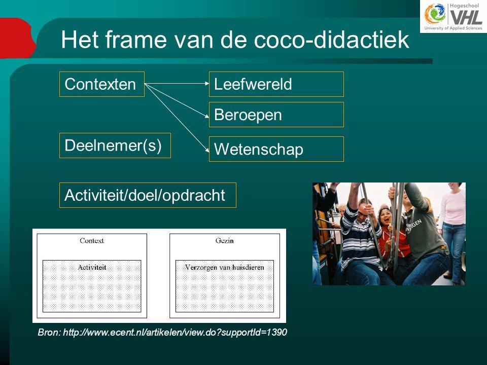 Het frame van de coco-didactiek