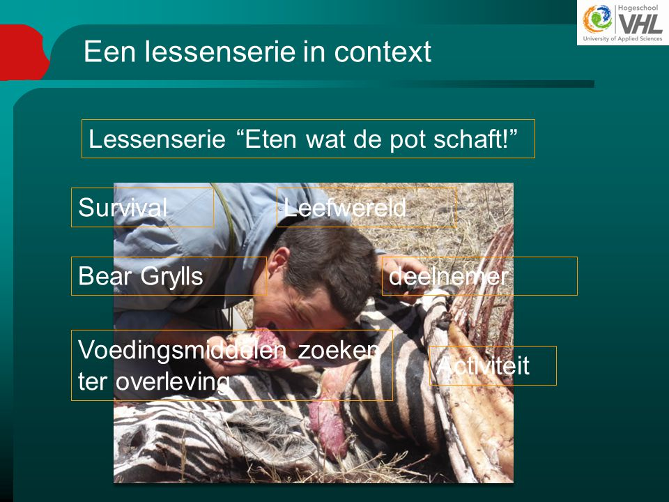 Een lessenserie in context