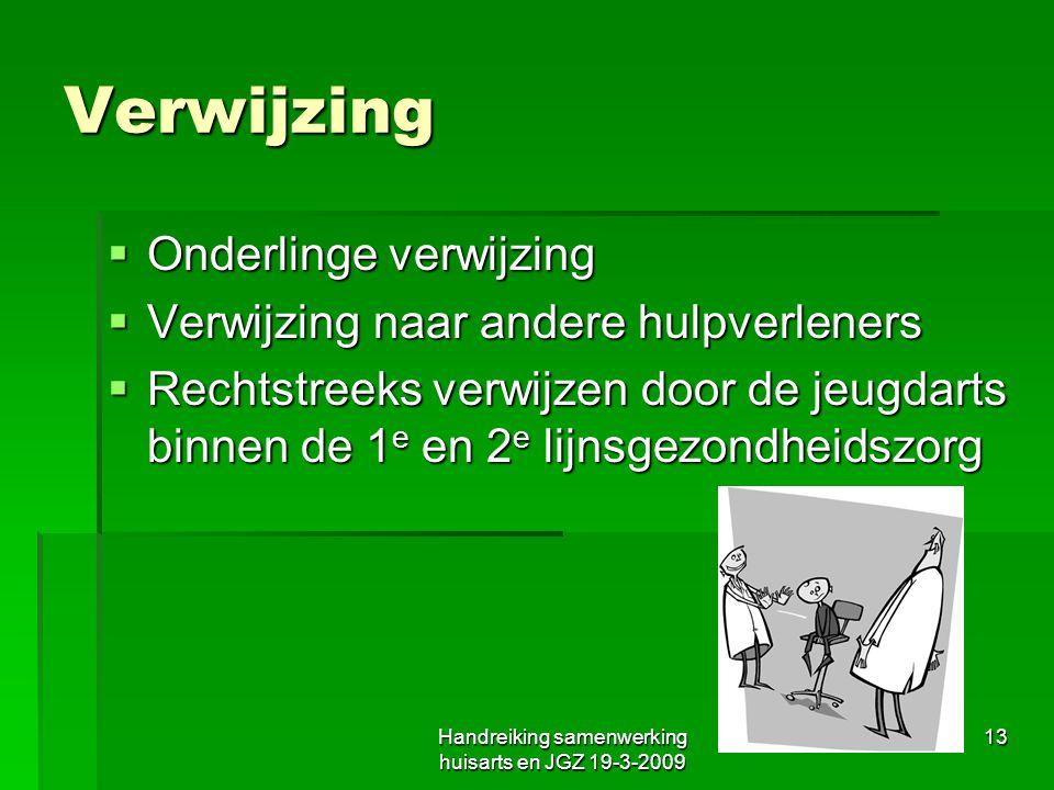 Handreiking samenwerking huisarts en JGZ 19-3-2009