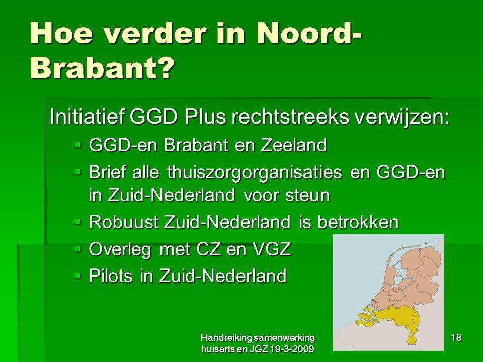 Hoe verder in Noord-Brabant