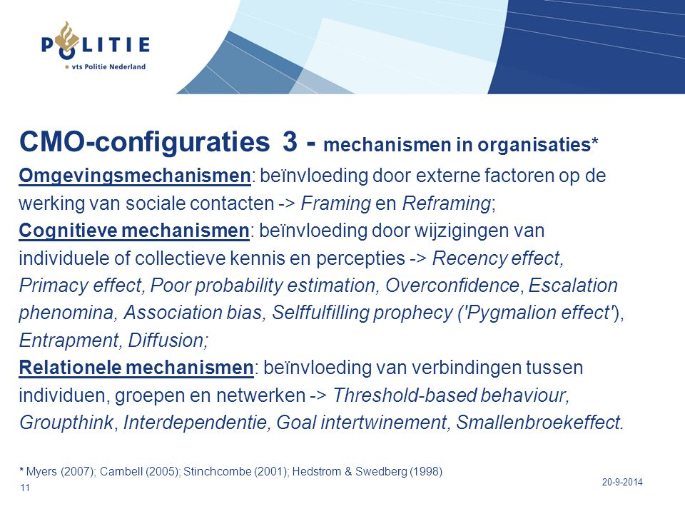 CMO-configuraties 3 - mechanismen in organisaties