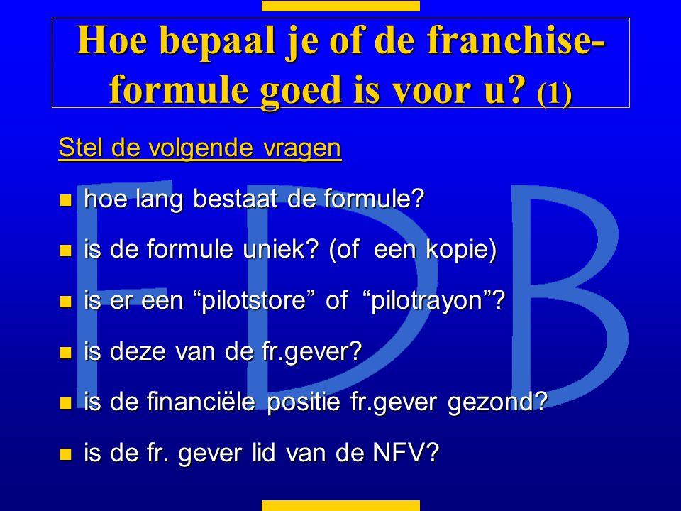 Hoe bepaal je of de franchise-formule goed is voor u (1)