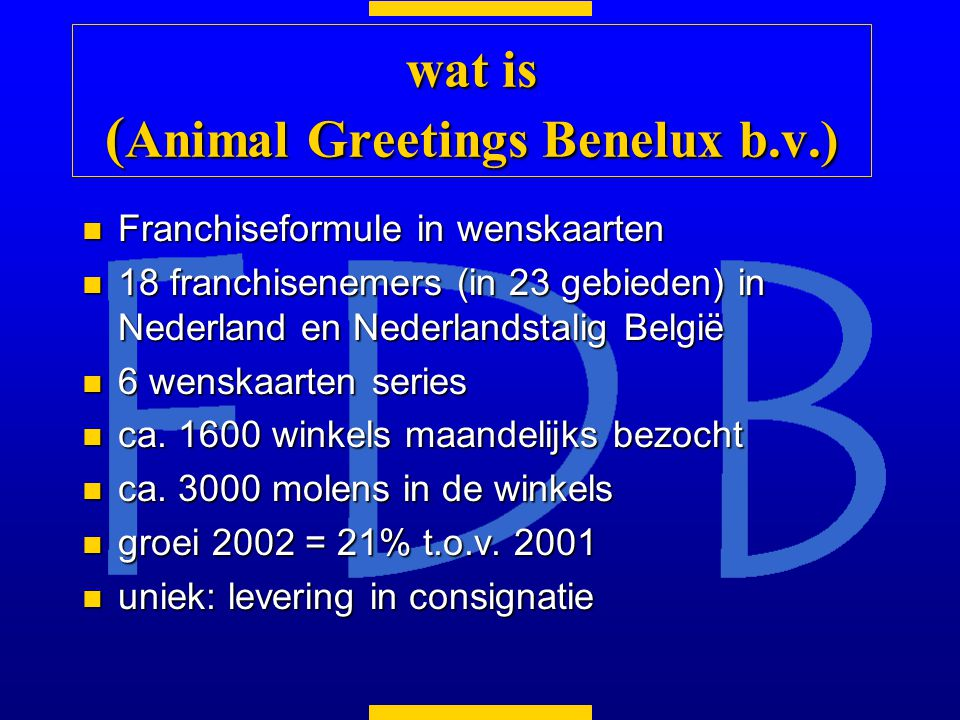 wat is (Animal Greetings Benelux b.v.)