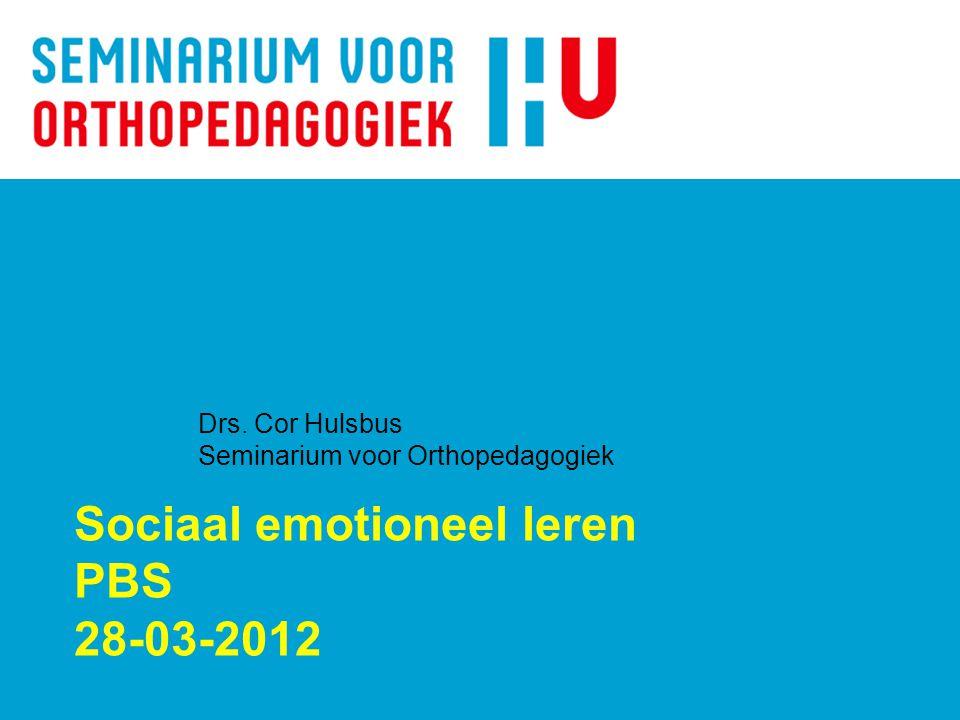 Sociaal emotioneel leren PBS 28-03-2012