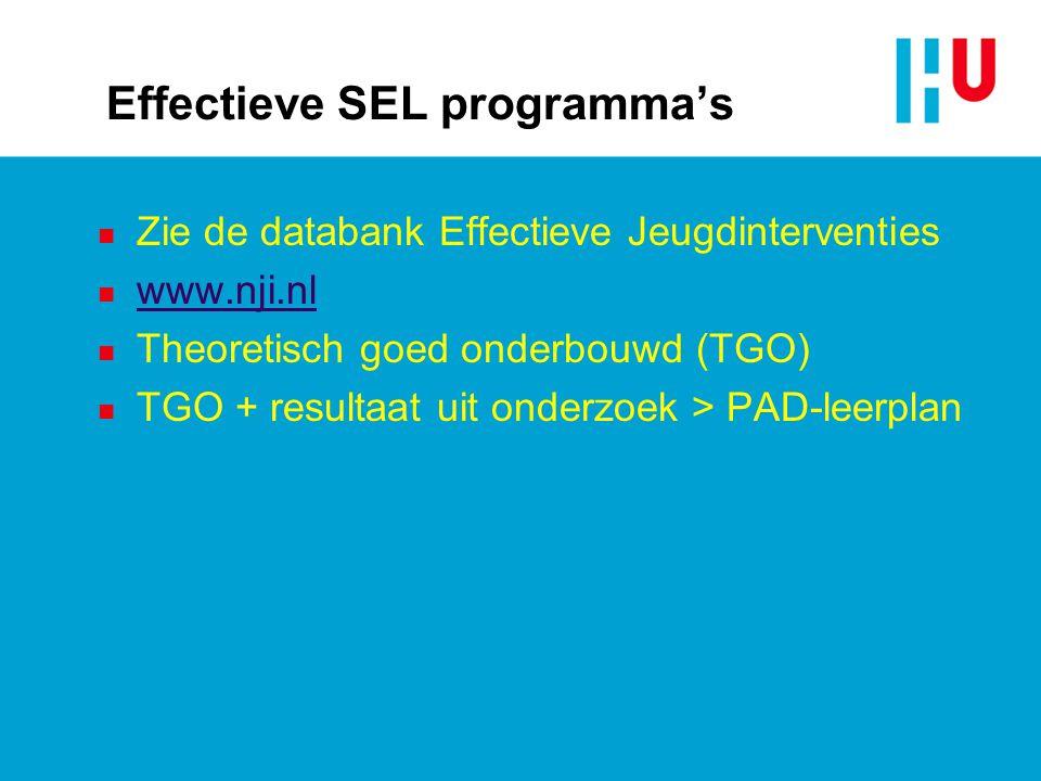 Effectieve SEL programma's