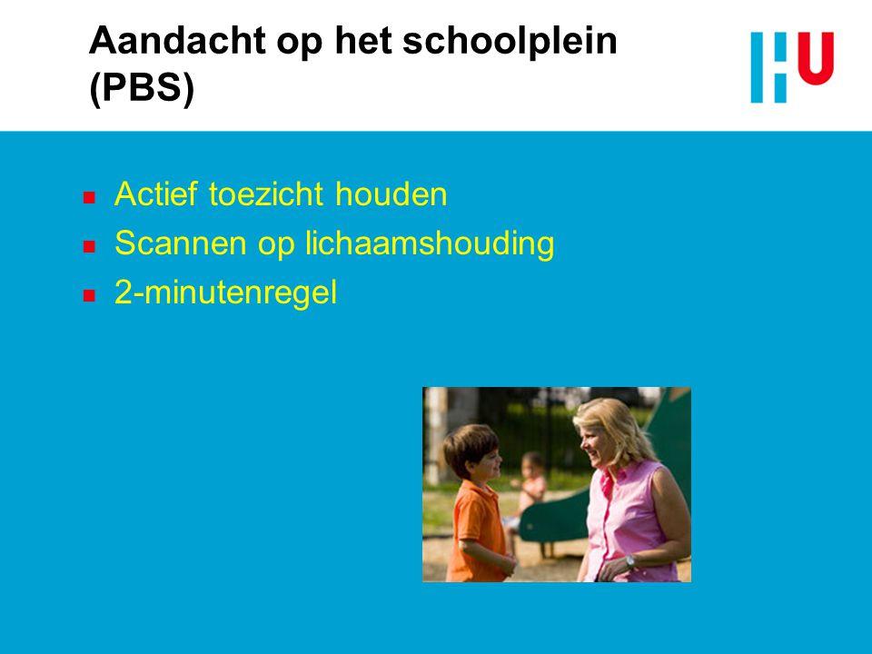 Aandacht op het schoolplein (PBS)