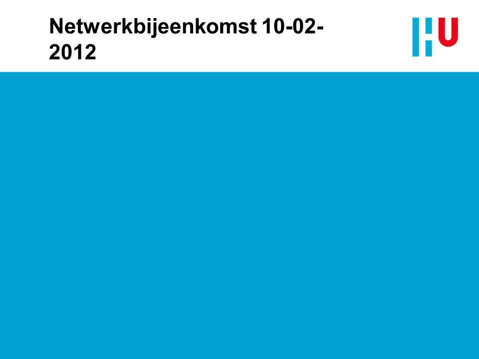 Netwerkbijeenkomst 10-02-2012