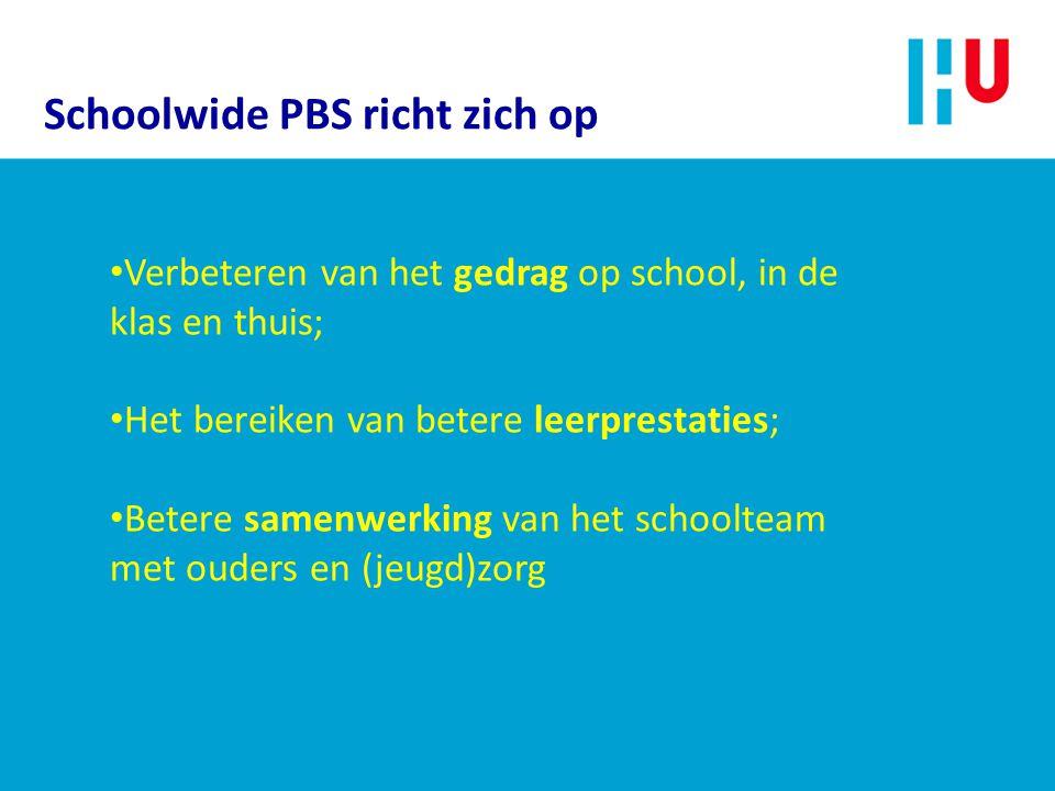 Schoolwide PBS richt zich op