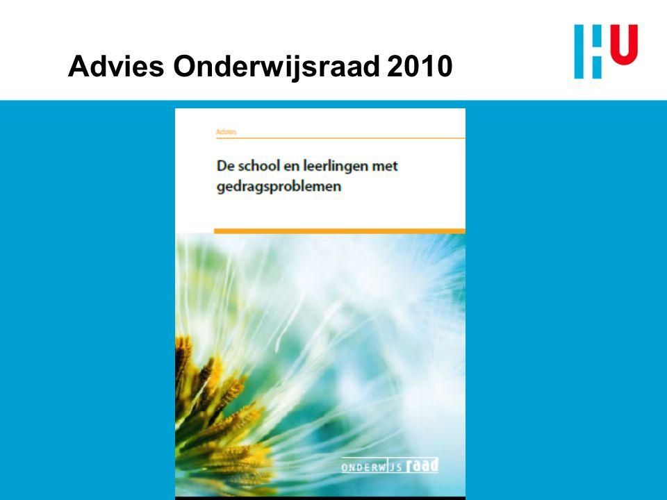 Advies Onderwijsraad 2010