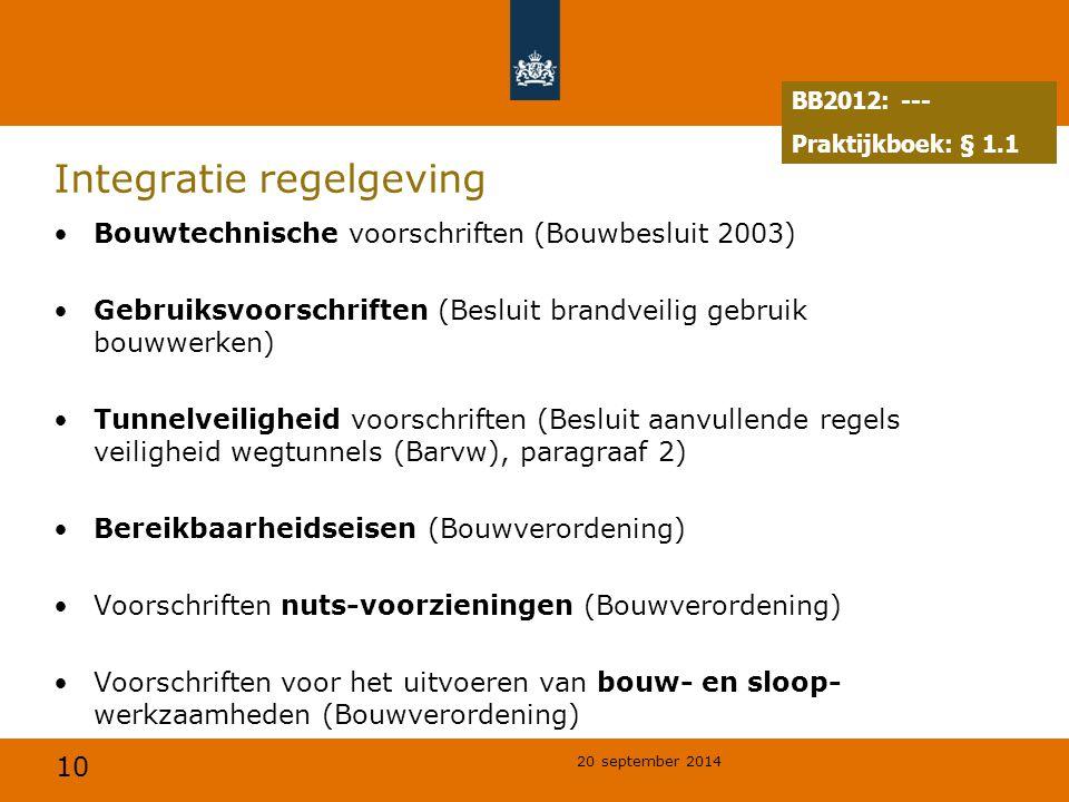 Integratie regelgeving