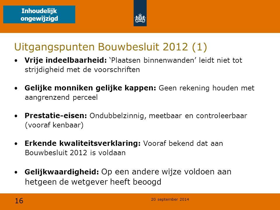 Uitgangspunten Bouwbesluit 2012 (1)