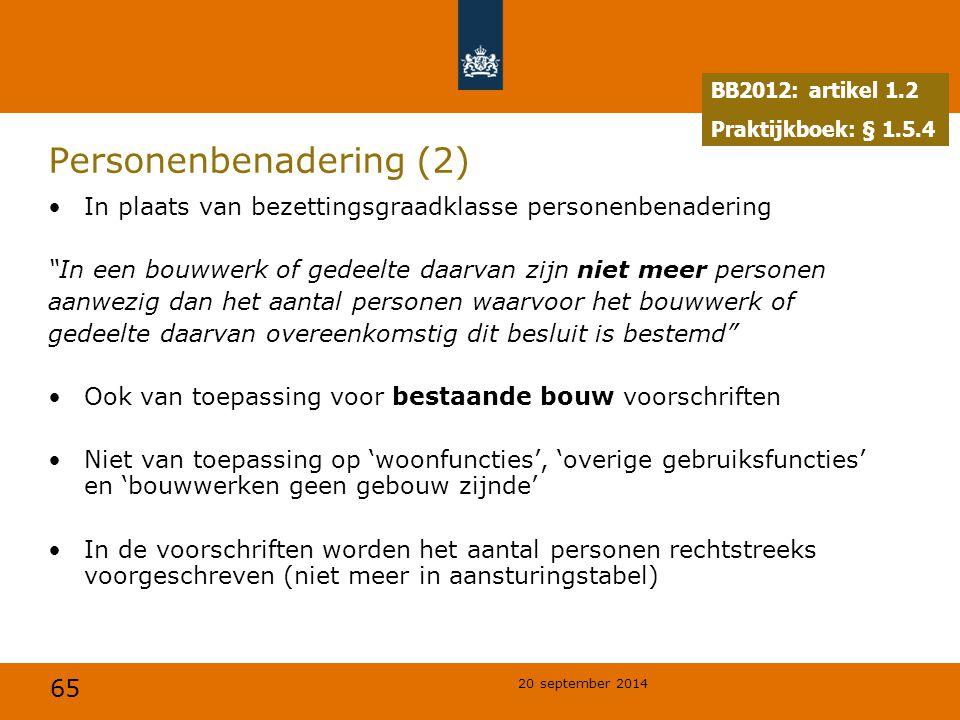 Personenbenadering (2)