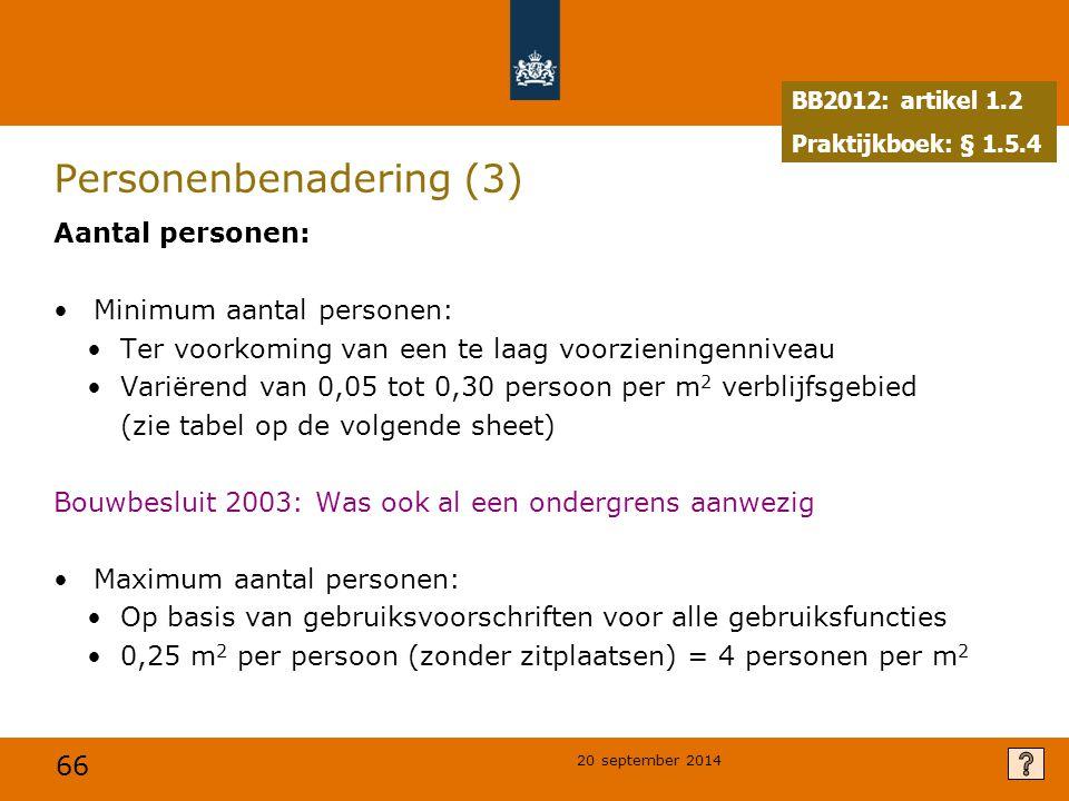 Personenbenadering (3)