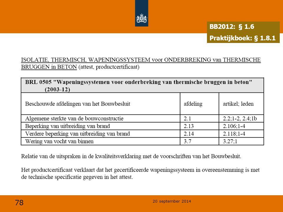 BB2012: § 1.6 Praktijkboek: § 1.8.1