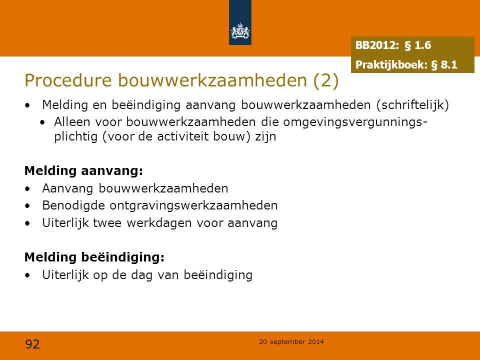 Procedure bouwwerkzaamheden (2)
