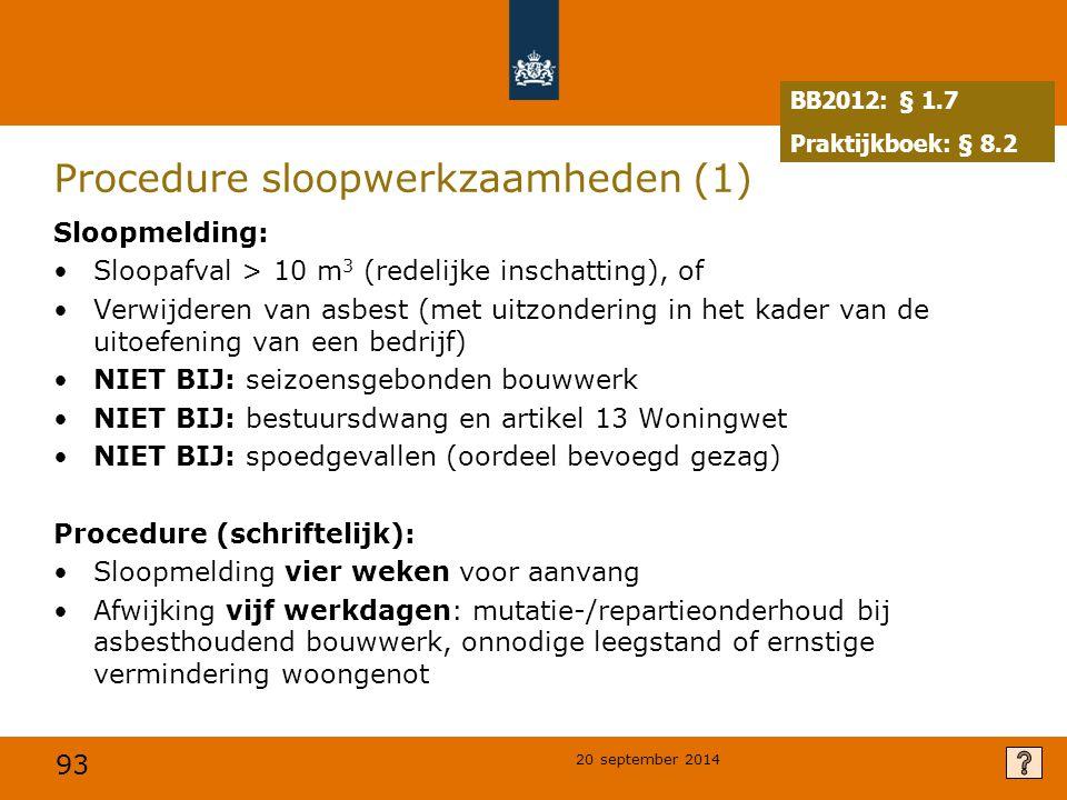 Procedure sloopwerkzaamheden (1)