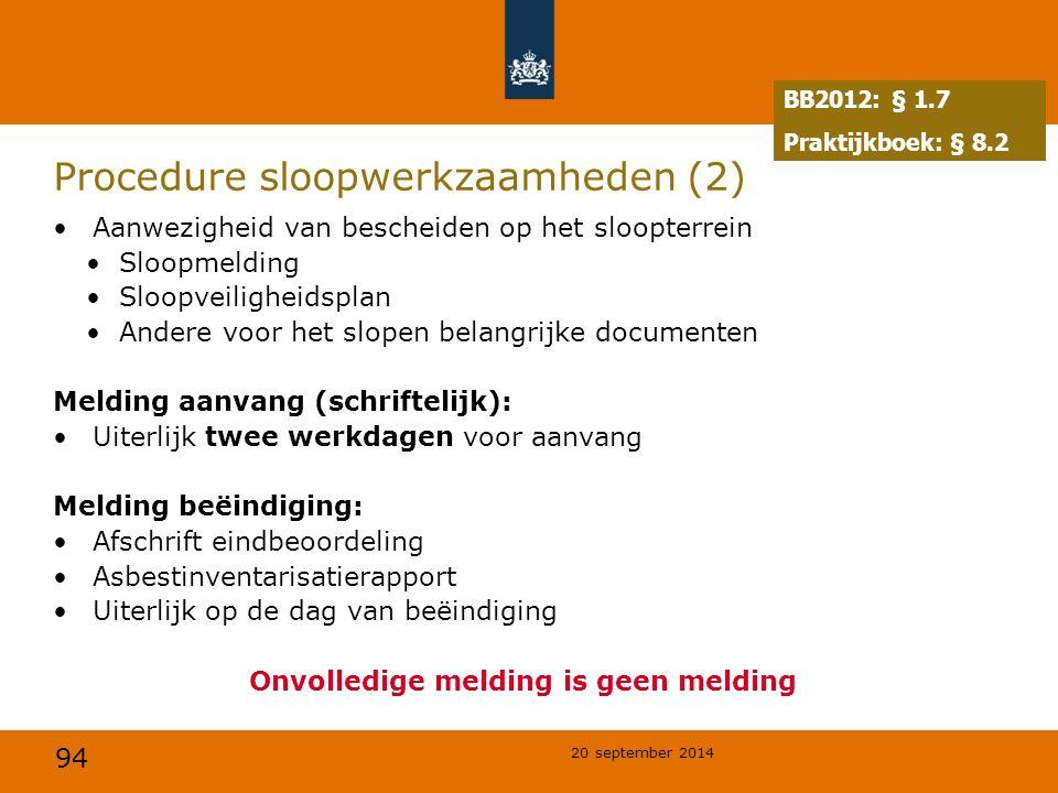 Procedure sloopwerkzaamheden (2)