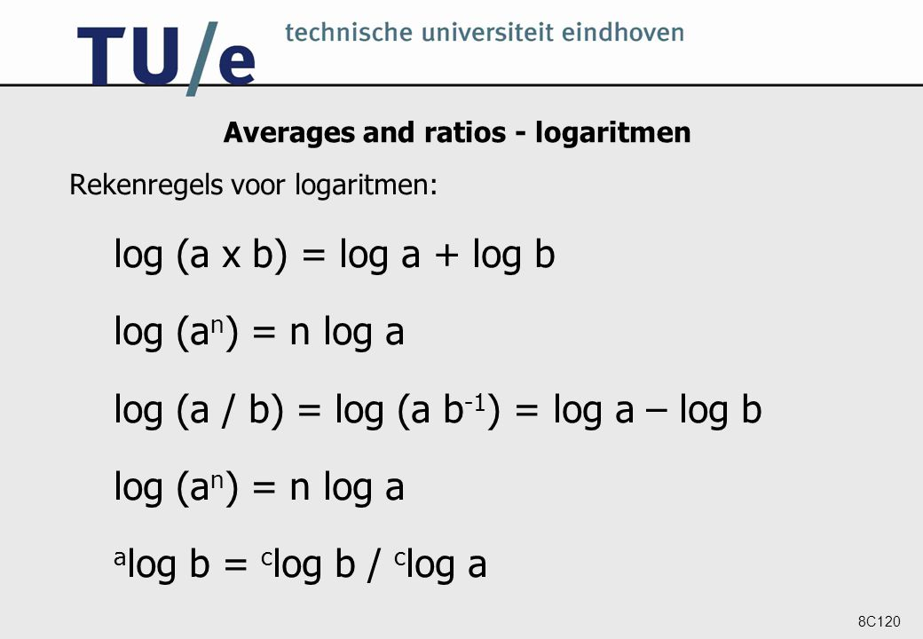 Averages and ratios - logaritmen