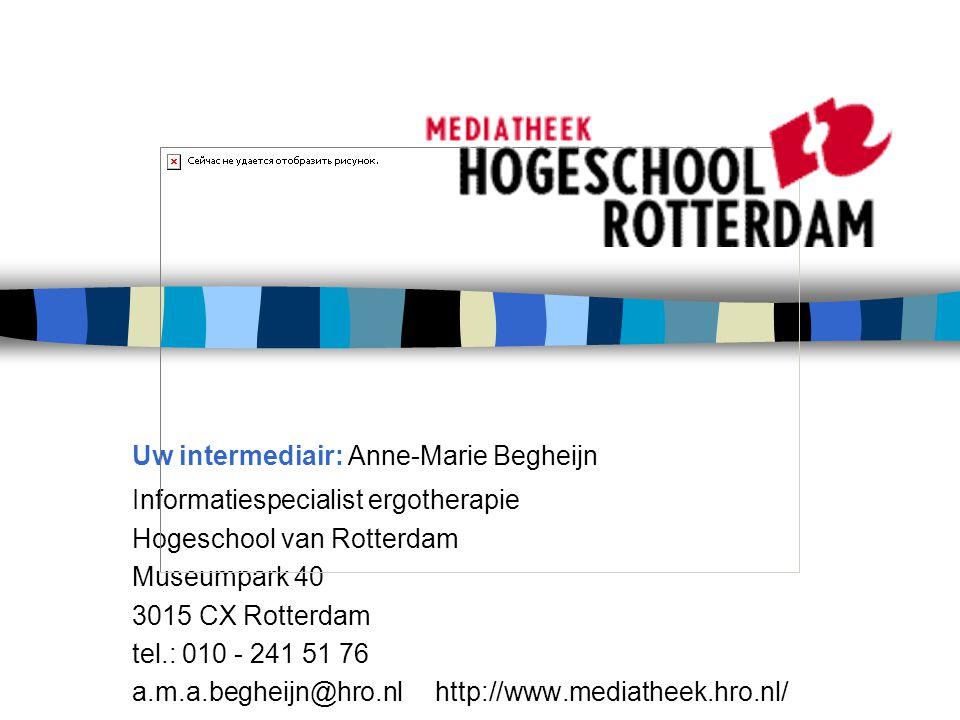 Uw intermediair: Anne-Marie Begheijn
