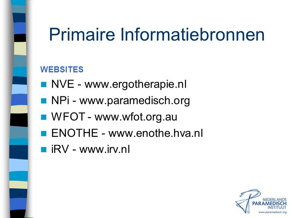 Primaire Informatiebronnen