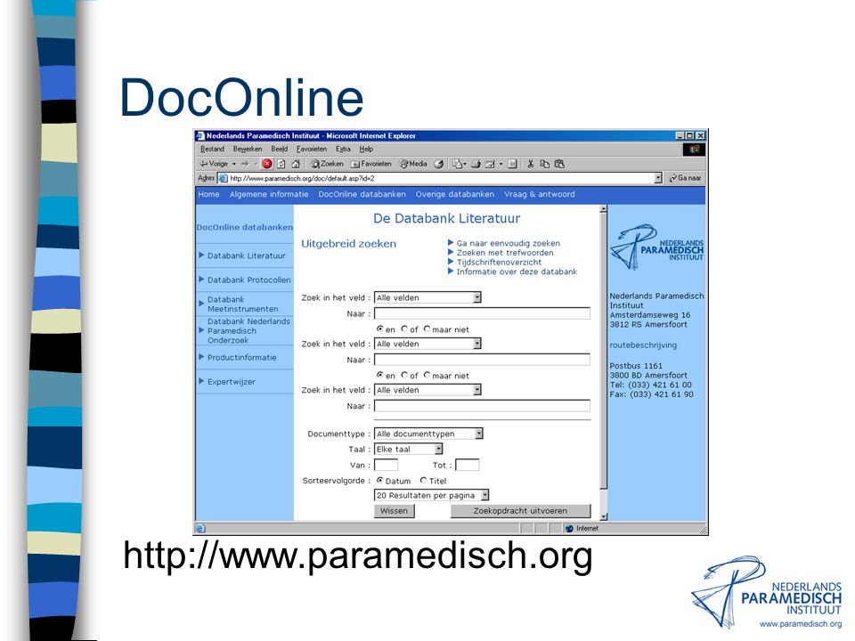 DocOnline http://www.paramedisch.org