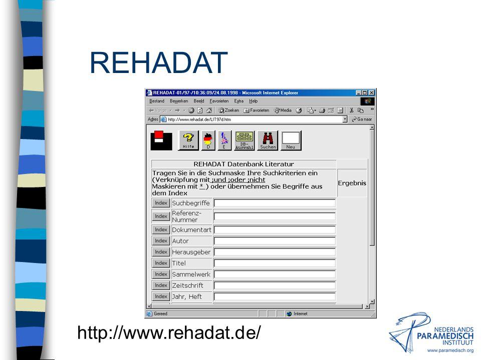 REHADAT http://www.rehadat.de/