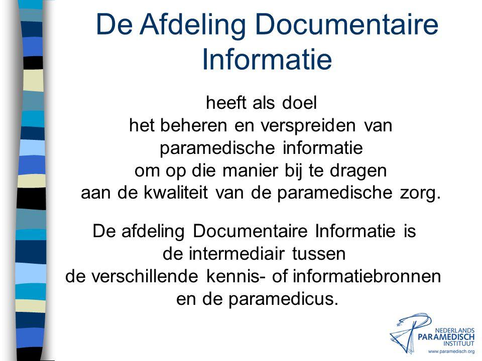 De Afdeling Documentaire Informatie