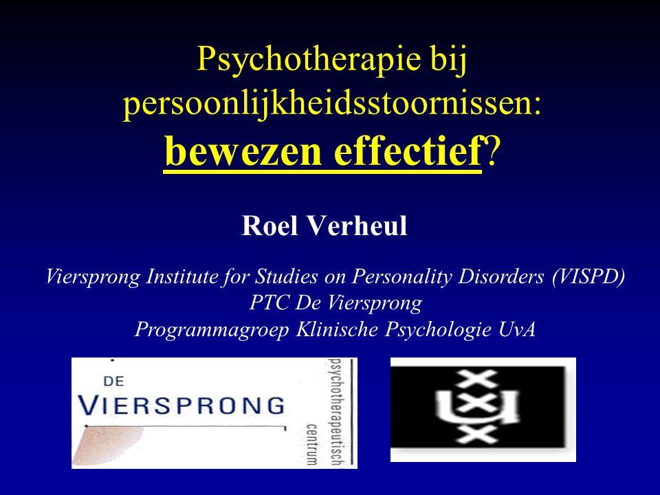 Psychotherapie bij persoonlijkheidsstoornissen: bewezen effectief