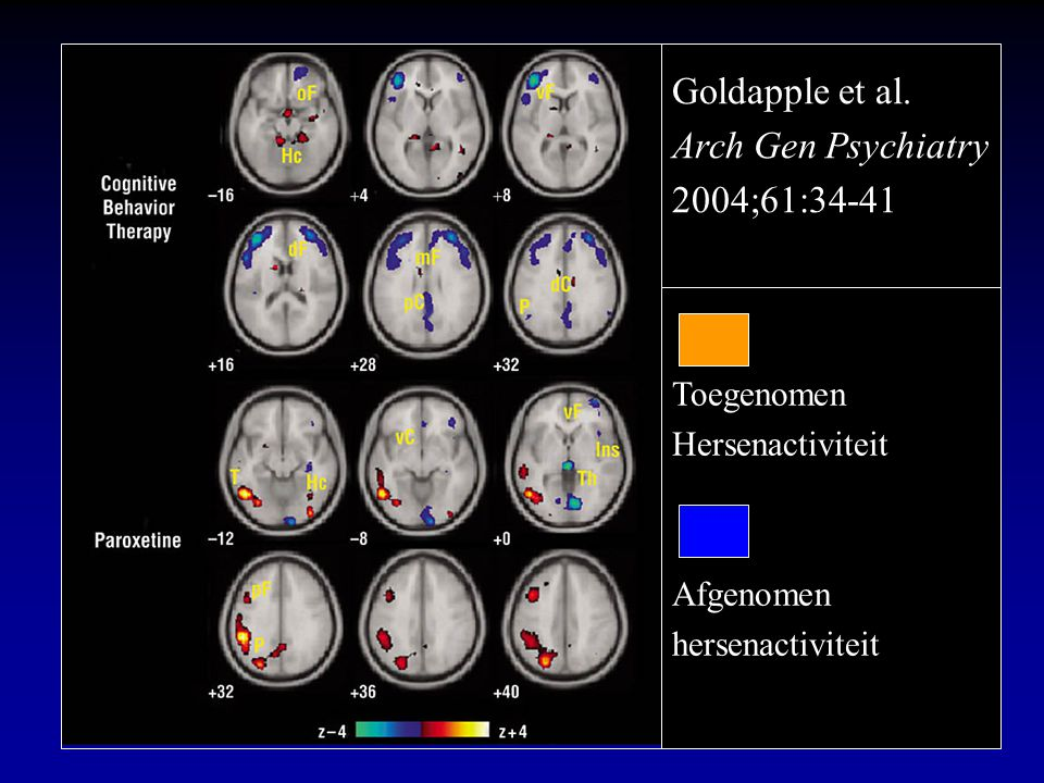 Goldapple et al. Arch Gen Psychiatry 2004;61:34-41 Toegenomen