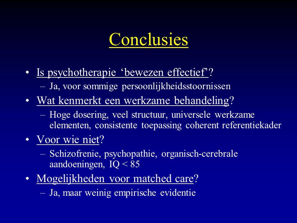 Conclusies Is psychotherapie 'bewezen effectief'