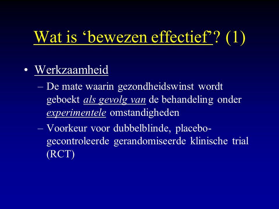Wat is 'bewezen effectief' (1)